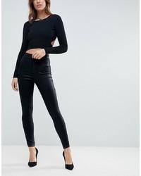 schwarze enge Jeans von ASOS DESIGN