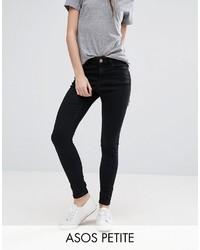 schwarze enge Jeans von Asos