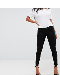schwarze enge Jeans von Asos Petite