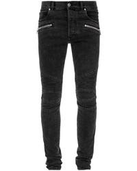 schwarze enge Jeans von Balmain