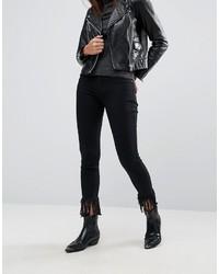 schwarze enge Jeans von Blank NYC