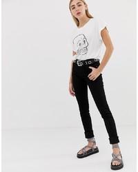 schwarze enge Jeans von Cheap Monday