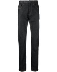schwarze enge Jeans von Ermenegildo Zegna