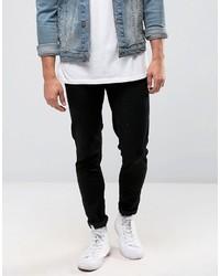 schwarze enge Jeans von Farah