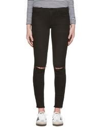 Schwarze Enge Jeans von Frame