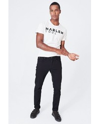 schwarze enge Jeans von Harlem Soul