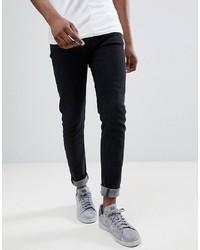 schwarze enge Jeans von Hoxton Denim