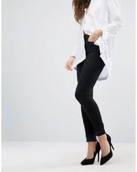 schwarze enge Jeans von J Brand