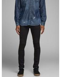schwarze enge Jeans von Jack & Jones