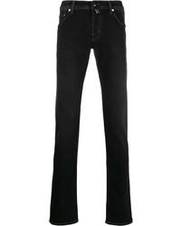 schwarze enge Jeans von Jacob Cohen