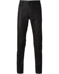 Schwarze Enge Jeans von John Varvatos