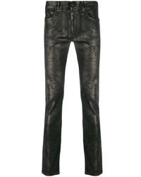 schwarze enge Jeans von Karl Lagerfeld