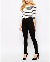 schwarze enge Jeans von Oasis
