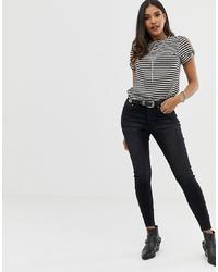 schwarze enge Jeans von One Teaspoon