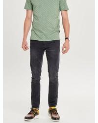 schwarze enge Jeans von ONLY & SONS