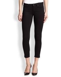 Schwarze Enge Jeans von Paige