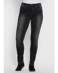 schwarze enge Jeans von SHEEGO DENIM
