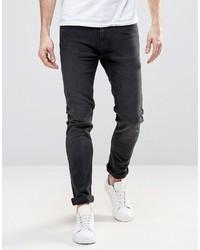 Schwarze Enge Jeans von Weekday