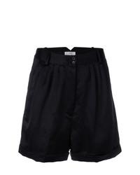schwarze Falten Shorts von Forte Forte