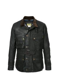 schwarze Feldjacke aus Leder von Addict Clothes Japan