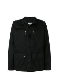 schwarze Feldjacke von Saint Laurent