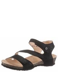 schwarze flache Sandalen aus Leder von Think!