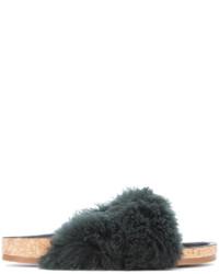 schwarze flache Sandalen von Chloé