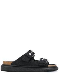 schwarze flache Sandalen von Isabel Marant