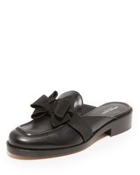 schwarze flache Sandalen von Michael Kors