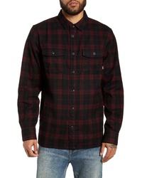 schwarze Flanell Shirtjacke