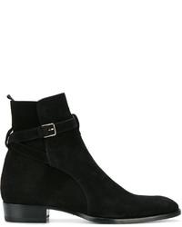 schwarze formelle Stiefel von Saint Laurent