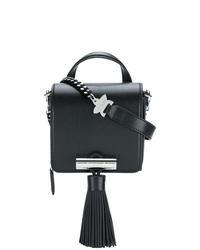 schwarze Fransen Leder Umhängetasche von Kenzo
