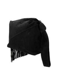schwarze Fransen Wildleder Clutch von Isabel Marant
