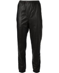 schwarze Freizeithose aus Leder von 3.1 Phillip Lim