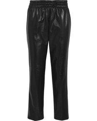 schwarze Freizeithose aus Leder von Valentino