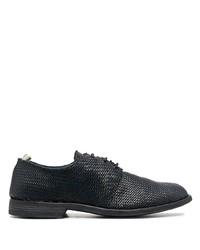 schwarze geflochtene Leder Derby Schuhe von Officine Creative