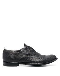 schwarze geflochtene Leder Oxford Schuhe von Officine Creative