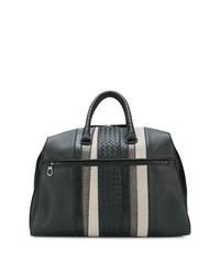 schwarze geflochtene Leder Reisetasche