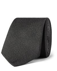 schwarze geflochtene Seidekrawatte von Saint Laurent