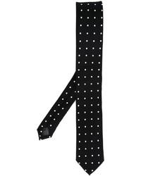 Schwarze gepunktete Krawatte von Dolce & Gabbana