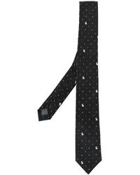 schwarze gepunktete Krawatte von Paul Smith