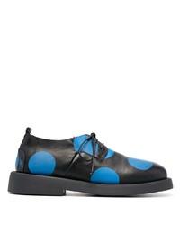 schwarze gepunktete Leder Derby Schuhe von Marsèll