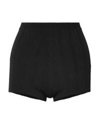 schwarze gepunktete Shorts von Marc Jacobs