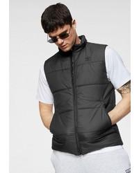 schwarze gesteppte ärmellose Jacke von adidas Originals