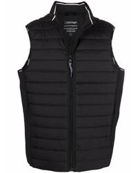 schwarze gesteppte ärmellose Jacke von Calvin Klein