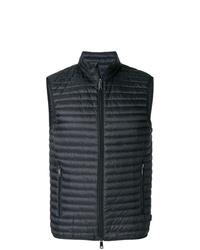 schwarze gesteppte ärmellose Jacke von Emporio Armani
