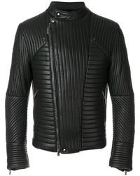 schwarze gesteppte Bikerjacke von Emporio Armani