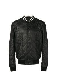 schwarze gesteppte Bomberjacke von Dolce & Gabbana