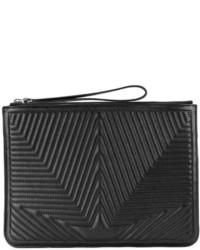 schwarze gesteppte Leder Clutch von Golden Goose Deluxe Brand