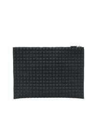 schwarze gesteppte Leder Clutch von NO KA 'OI